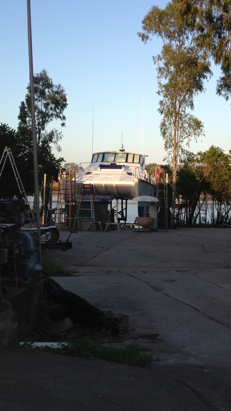 Early morning at the boat yard