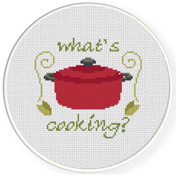 FREE for March 18th 2015 Only - Whats Cooking Cross Stitch Pattern