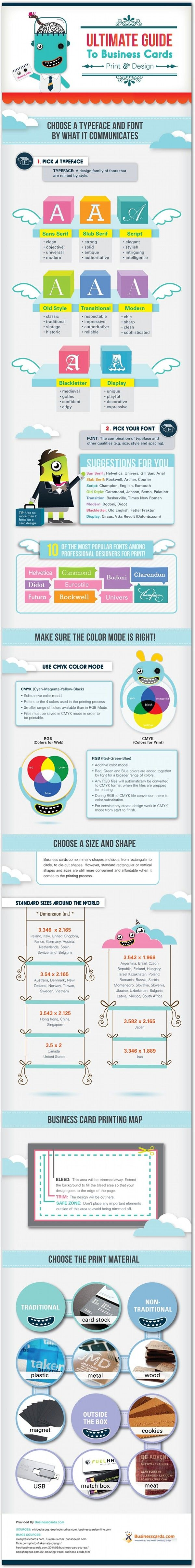 Going to make a business card? Here is a nice guide on what you should consider.
