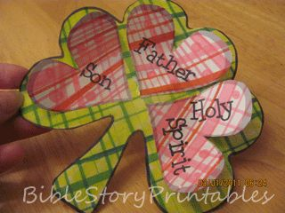 Cute Trinity project--might be better for K-5 kids  http://www.biblestoryprintables.com/BibleCraftsStPatricksTrinity.html