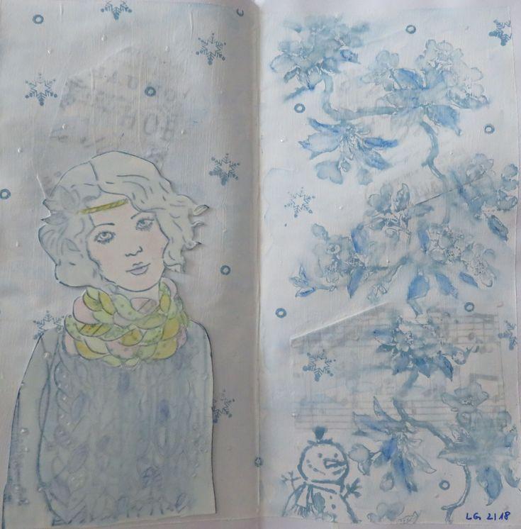"""Letter Journal Runde """"Winter"""""""