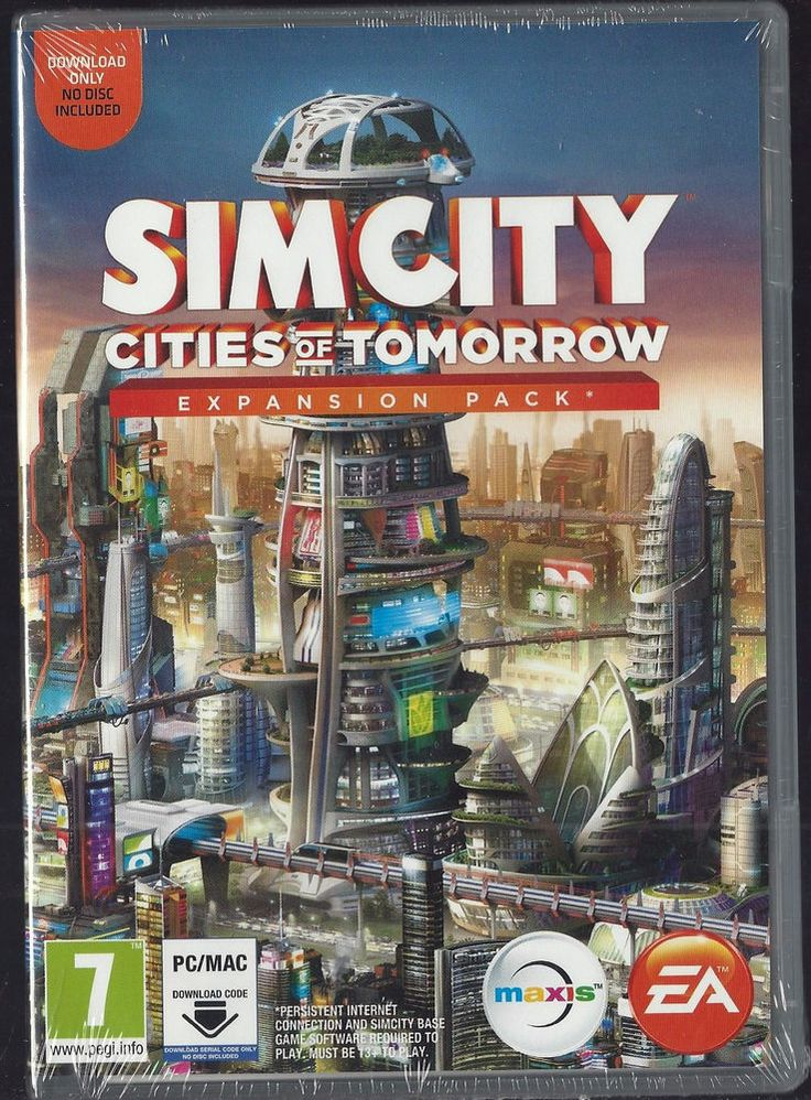 SIM CITY cities of Tomorrow Expansion Pack Download Code