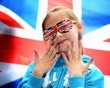A young Great Britain fan shows off her country's colours during the Women's 63kg Weightlifting final on Day 4 of the London 2012 Olympic Games at ExCeL on July 31, 2012 in London, England. (Photo by Laurence Griffiths/Getty Images) - http://www.PaulFDavis.com/success-speaker (info@PaulFDavis.com) www.Facebook.com/speakers4inspiration www.Twitter.com/PaulFDavis www.Linkedin.com/in/worldproperties