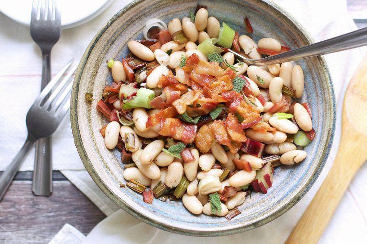 Σαλάτα με φασόλια και μπέικον