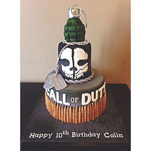 Call of Duty Ghost Birthday Cake