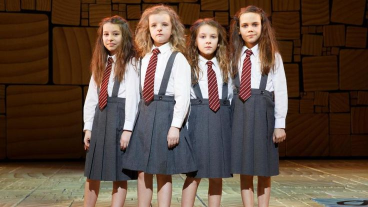 Bailey Ryon, Milly Shapiro, Sophia Gennusa and Oona Lawrence in <i>Matilda The Musical</i>