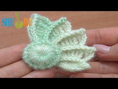 ▶ Crochet 3D Wing How to Crochet Tutorial 10 Part 1 of 2 Crochet Element - YouTube