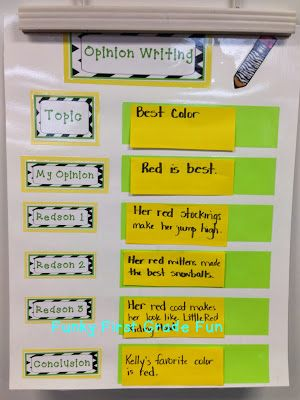 Funky First Grade Fun: Opportunities for Opinion Writing