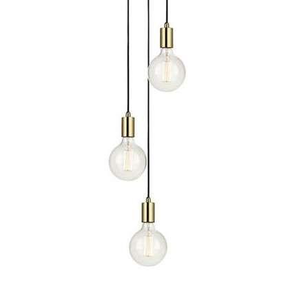 Minimalistyczna LAMPA wisząca SKY 106333 Markslojd metalowa OPRAWA zwis KASKADA przewody kable mosiądz