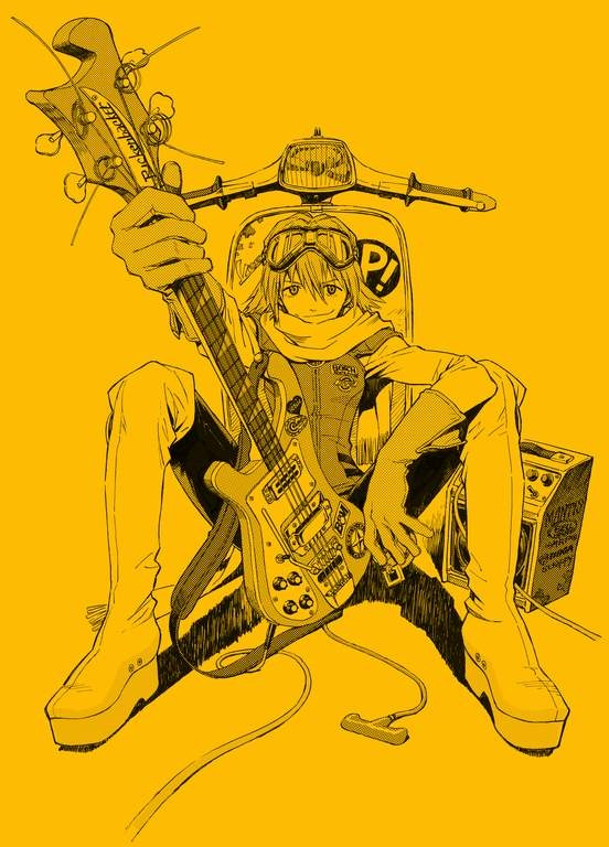FLCL - I loved this story... but particularly I like how self assured she seemed. I'd love to be hipper/edgier/cooler.
