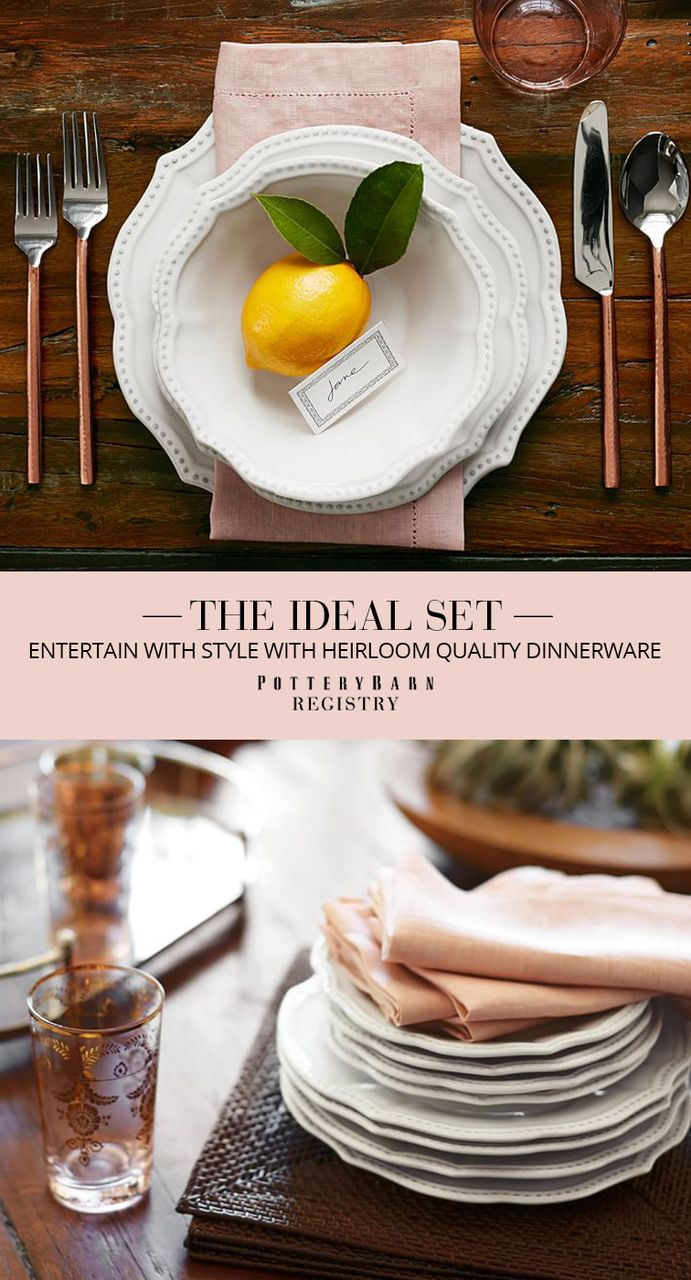 Shop the top registry picks and start your dream registry with Pottery Barn. Find delightful and must-have items to build your life together as a couple. Discover our heirloom quality dinnerware that's perfect for special occasions but sturdy enough for daily use. Shop other top registry items from Pottery Barn and create your registry with ease.
