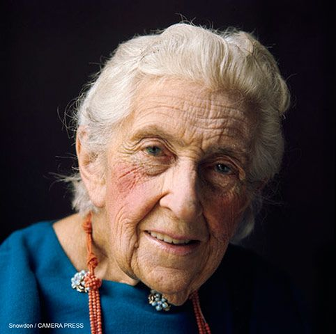 Agatha Christie the author of, among many others, the Miss Jane Marple mysteries. portrait by Lord Snowdon