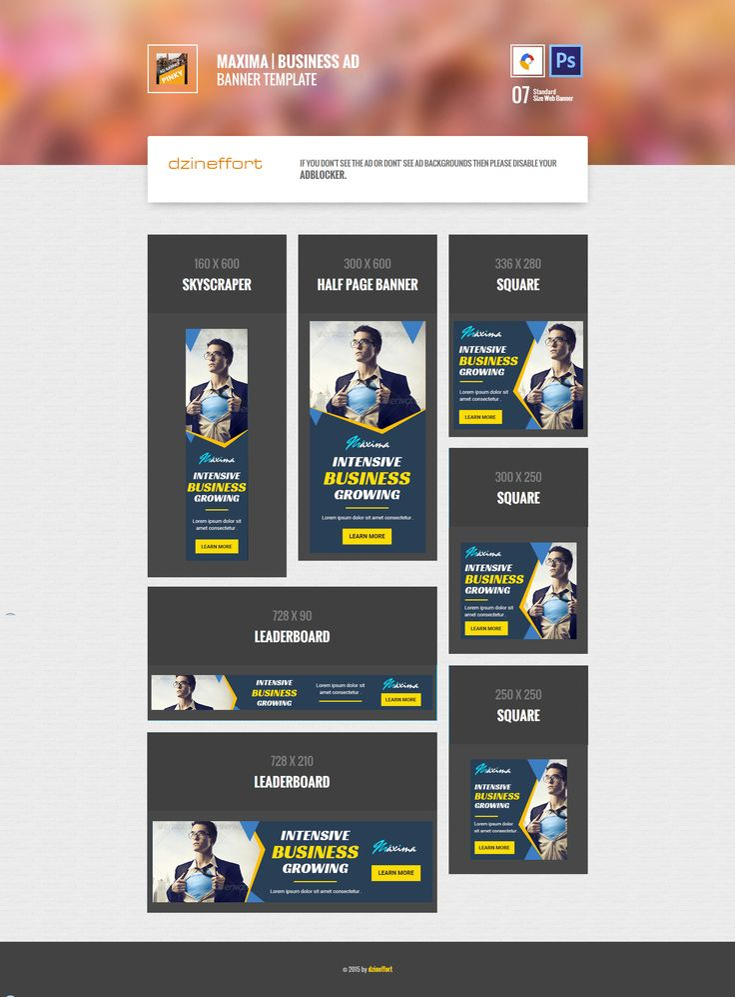 Maxima | Business HTML 5 Animated Google Banner