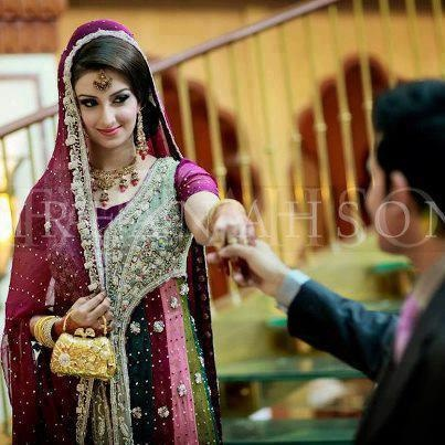 dulhan & dulha indian pakistani bollywood bride and groom desi wedding                                                                                                                                                     More