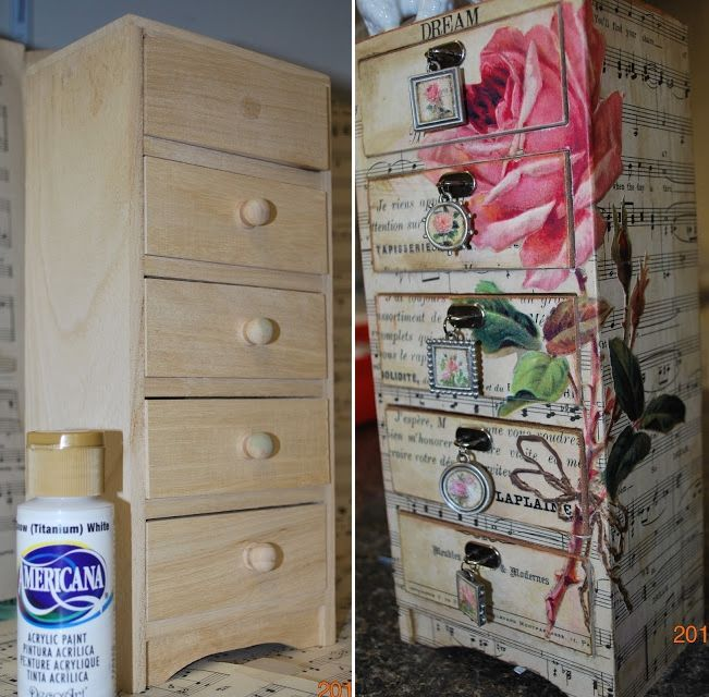 50 DIY Decoupage Project Ideas to Make - Decoupage Jewelry Chest