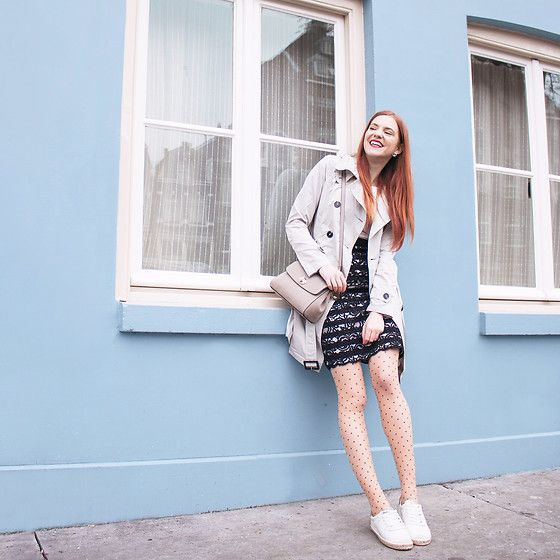 Get this look: http://lb.nu/look/8742743  More looks by Sonja Vogel: http://lb.nu/retrosonja  Items in this look:  S.Oliver Rain Trenchcoat, S.Oliver Black And White Dress, S.Oliver Grey Bag, Leg Avenue Nude Polka Dot Tights, S.Oliver Espadrille Sneakers   #elegant #retro #street #dutch #amsterdam #soliver #ambassador #trenchcoat #raincoat