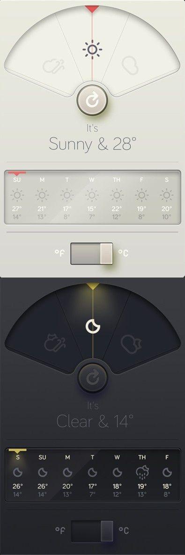 WeatherDial™ - A simpler, more beautiful weather app. #ui | 심리치료 | Pinterest | App design, Beautiful and Toronto