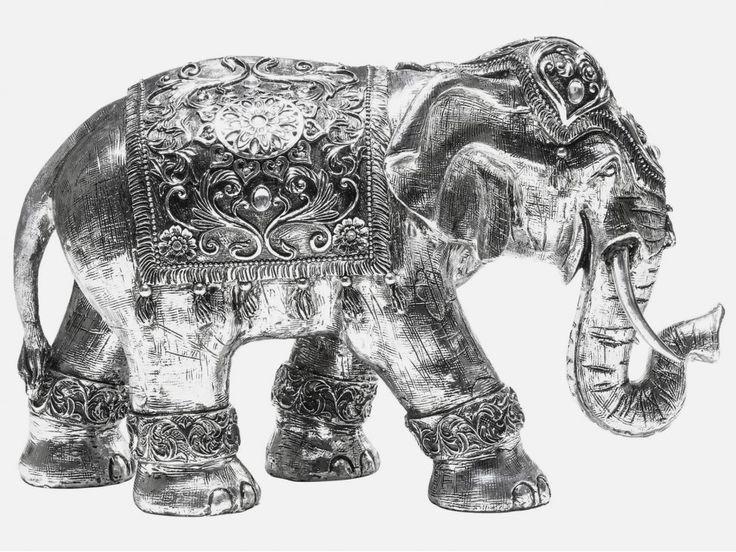 Figurka Dekoracyjna Elefant 1001 Nights mała — Figurki dekoracyjne — KARE® Design