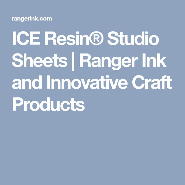 ICE Resin® Studio Sheets | Ranger Ink and Innovative Craft Products