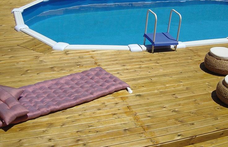 Piscina desmontable gre entarimada en madera piscinas - Precios piscinas desmontables ...