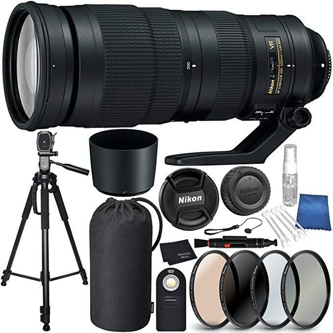 Nikon Af S Nikkor 200 500mm F 5 6e Ed Vr Lens Bundle For Nikon D7200 D7100 D3400 D3300 D3200 D3000 D5500 D5300 D5100 D5000 Nikon D7200 Vr Lens D7200