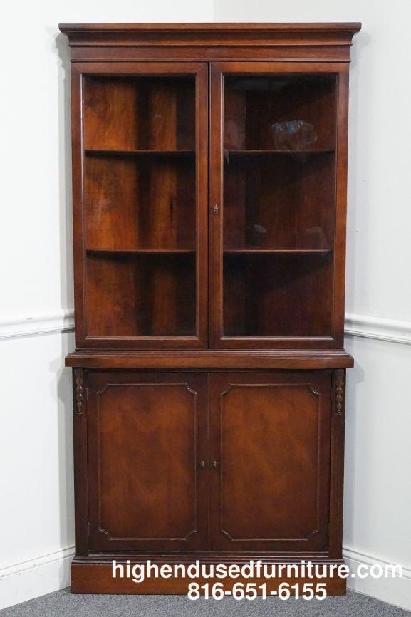 Antique Duncan Phyfe Mahogany Corner China Cabinet