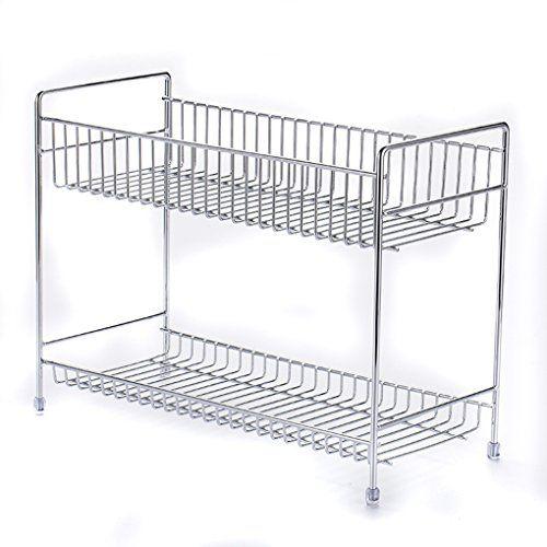 Esy-Life Stainless Steel 2 Tier Spice Rack Spice Shelf Kitchen Shelf Organizer | Dressers Organizers Shop
