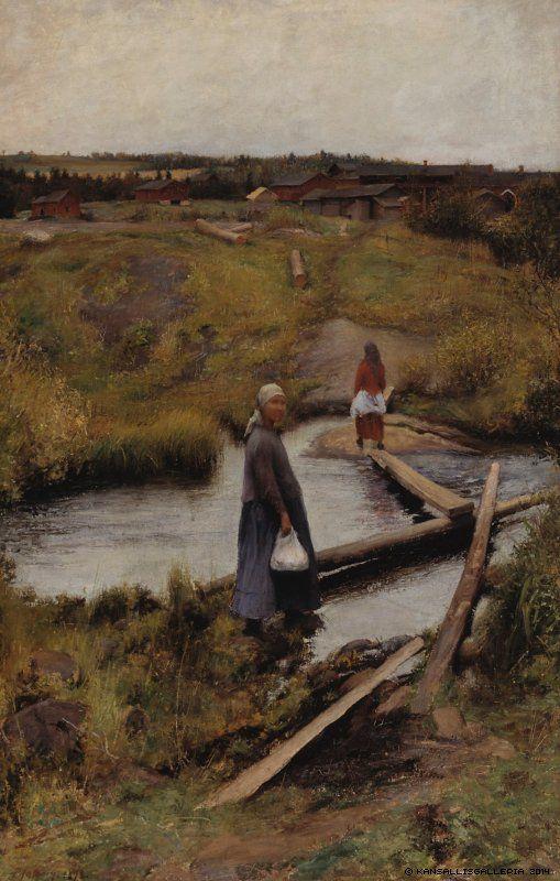 Pekka Halonen (1865-1933) Oijustie / The Short-Cut 1892 - Finland