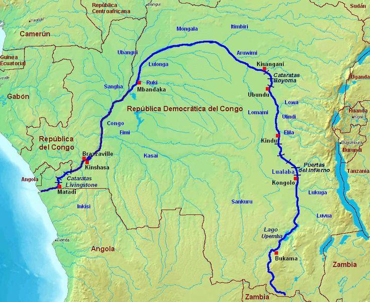 Resultado de imagem para rio congo mapa