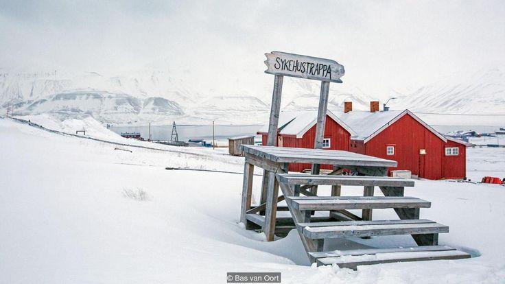 Longyearbyen - The hospital stairs (Credit: Credit: Bas van Oort)