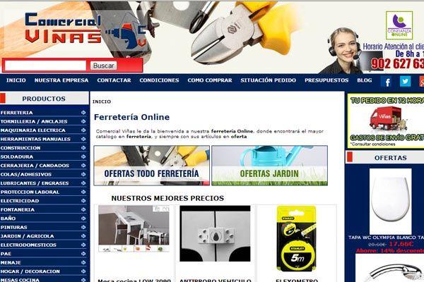 Ecommerce de ferretería online con servicio de posicionamiento y analítica web >> www.ferreteriavinas.es #SEO #analiticaweb #ecommerce