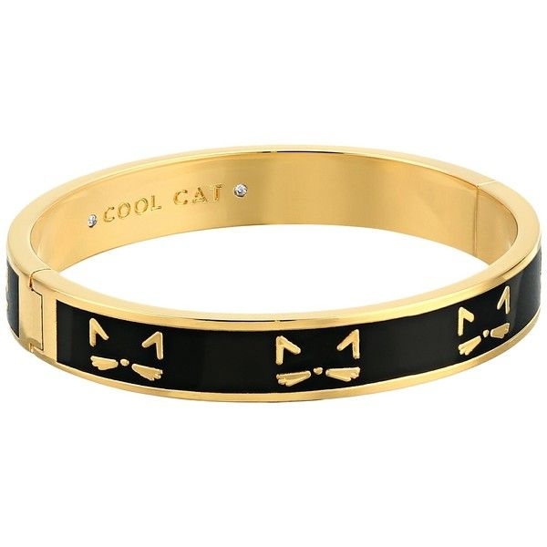 Kate Spade New York Idiom Bangles Cool Cat - Hinged Bracelet (Multi)... ($78) ❤ liked on Polyvore featuring jewelry, bracelets, hinged bangle, stackers jewelry, kate spade jewelry, party jewelry and cat jewelry