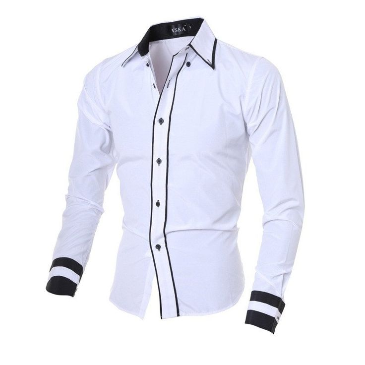 Fashion Long Sleeve Casual Men Shirt