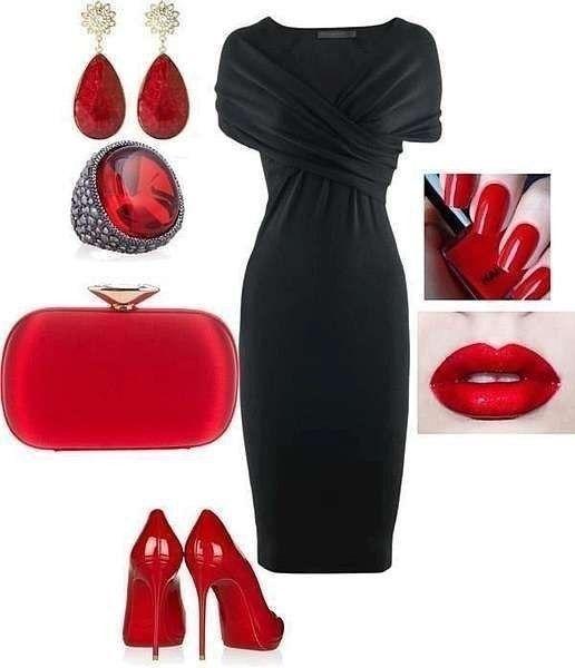 Ideas de outfits - Las combinaciones con el vestido negro...