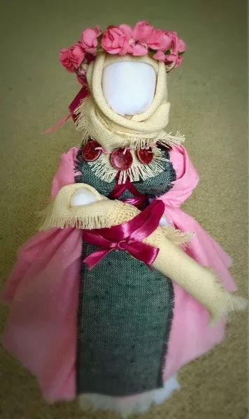 For 55$! This is handmade ukrainian motanka doll. This faceless doll represents ukrainian traditions and culture. This is great addition to your home decor.