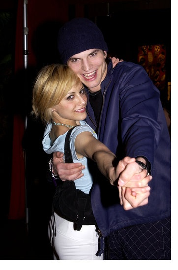 Stars on St. Patrick's Day | Brittany Murphy and Ashton Kutcher danced at Danny Mastersons St. Patricks Day party in LA in March 2002.