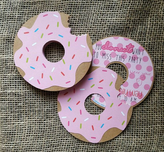 Hey, I found this really awesome Etsy listing at https://www.etsy.com/listing/265175020/donut-party-invitation-doughnut-birthday