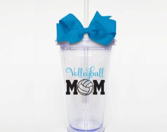 Love Volleyball Chevron Acrylic Tumbler by SweetSipsters on Etsy