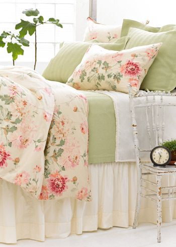 Pine Cone Hill Lady Apricot Floral Duvet Cover