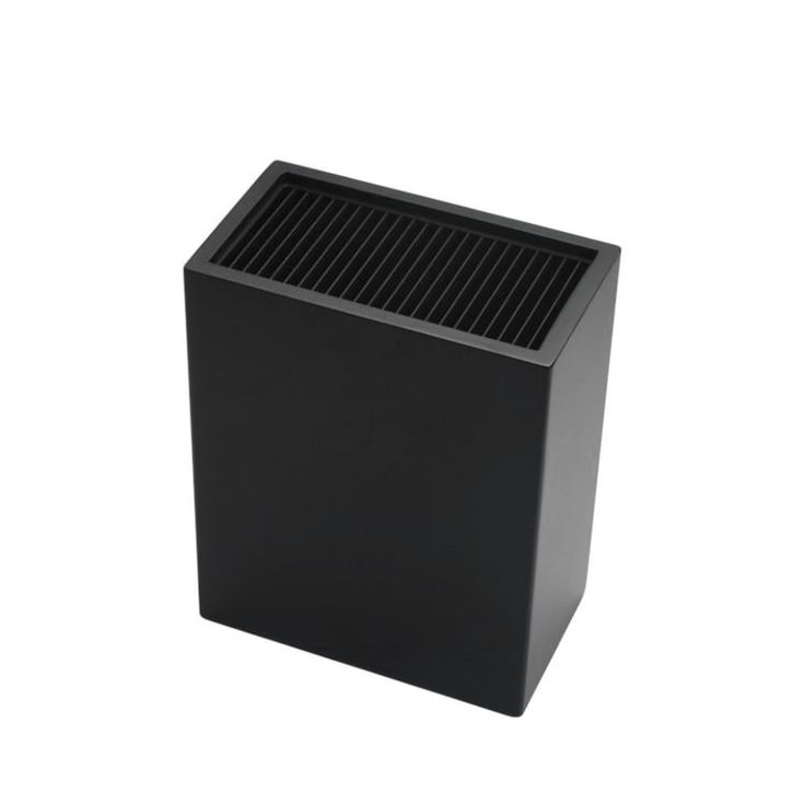 IconChef Universal Knife Block Rectangle Black - Fast Shipping