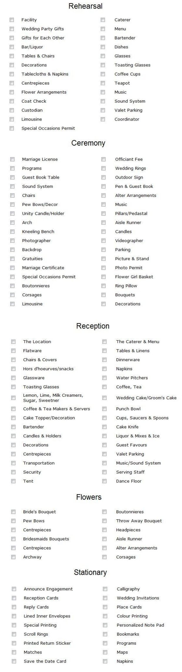 best 25 wedding reception checklist ideas on pinterest diy