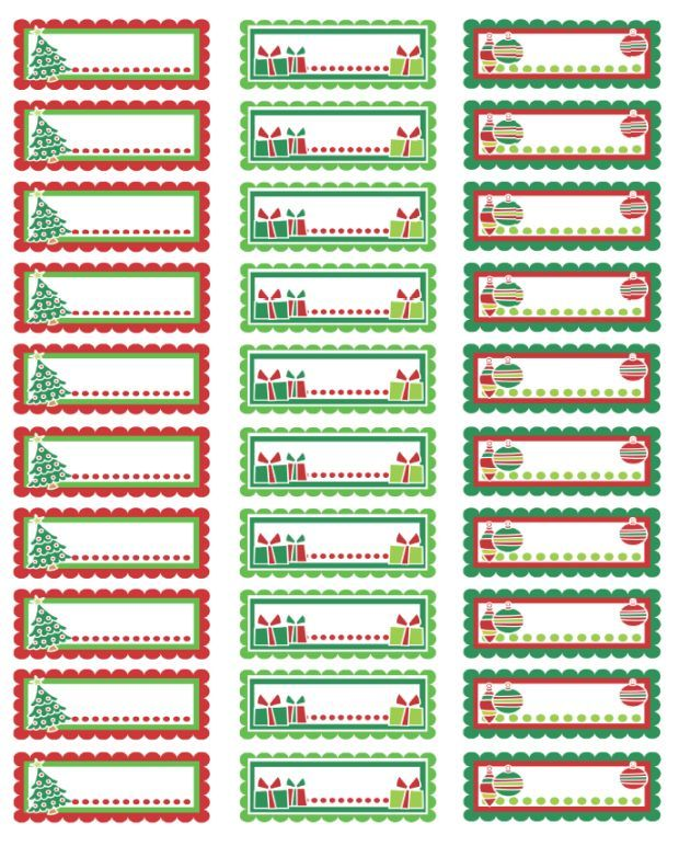 Christmas address labels or tags. Free printables!: