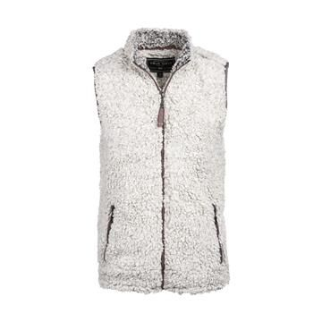 Free Shipping Available | The Frosty Tipped Pile Vest by True Grit has a full zip front, zippered hand pockets, and is made of 100% polyester. New style must have!