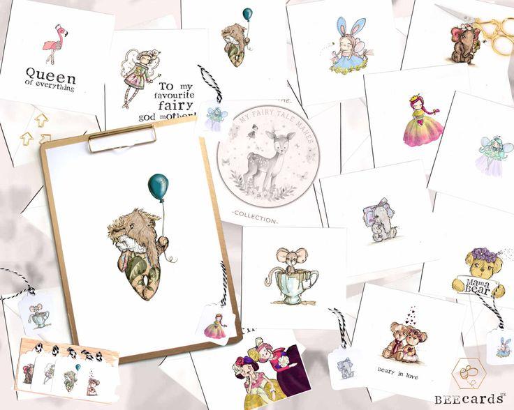 BOX SET, MyFairyTalesMakes, Stationary Set, Greeting Card Set, Gift Tags, Animal Illustration, Animal Artwork, Card Pack, Fairies by BEEcardsUK on Etsy https://www.etsy.com/uk/listing/501650956/box-set-myfairytalesmakes-stationary-set