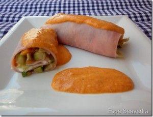 Rollitos de jamon con verduras y boletus | ¿Qué comemos mañana?