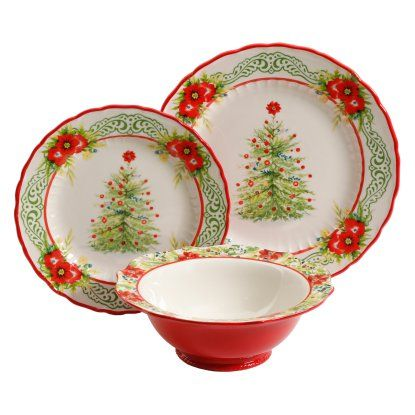 The Pioneer Woman Garland 12 Piece Dinnerware Set | Hayneedle