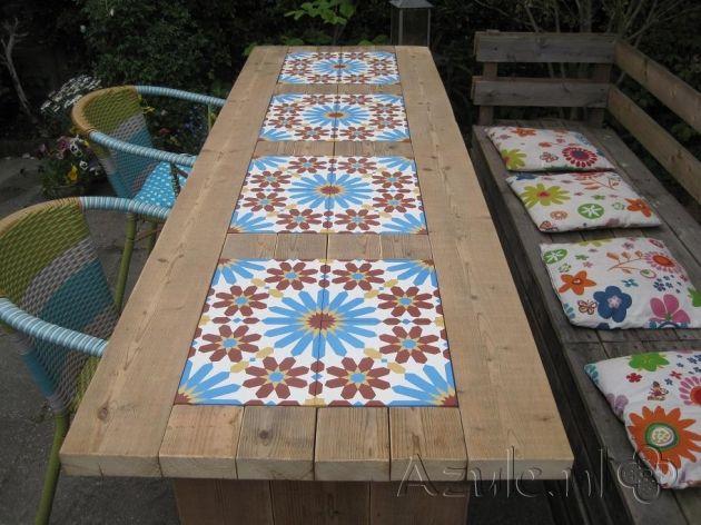 Cement Tiles Furniture - Rosso 06 - Project van Designtegels.nl
