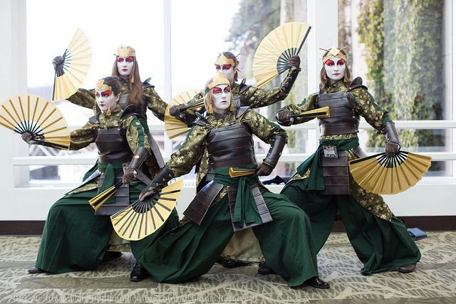 Kyoshi Warriors. If i had any friends or even if my sister liked avatar then i would do this :( Forever alone avatar lover!