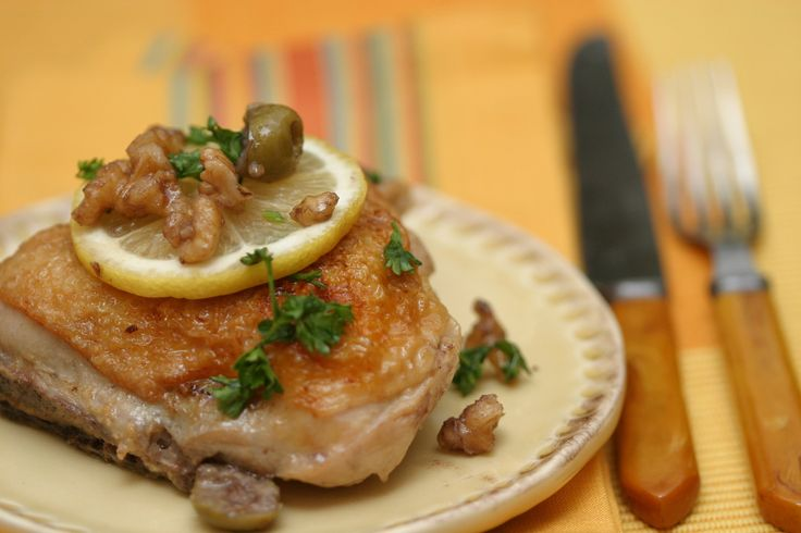 NYT Cooking: Sautéed Chicken With Green Olives and White Wine