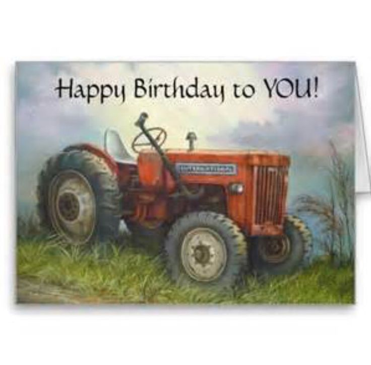 Happy birthday with a tractor:)